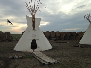One of the seven tipis