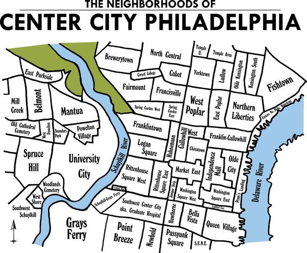 Philadelphia Map By Neighborhood